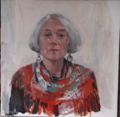 Portrait of Catherine Reynolds by Catriona Campbell