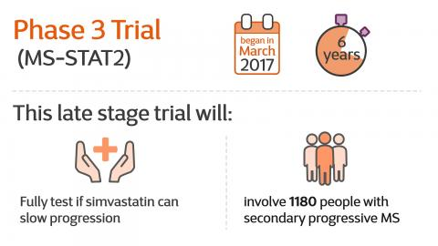 Infographic introducing Simvastatin trial