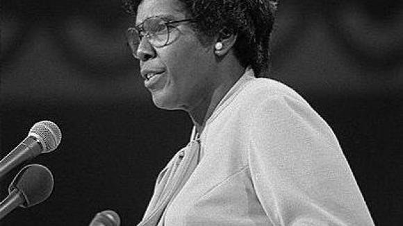 Barbara Jordan speaking at the 1976 Democratic National Convention