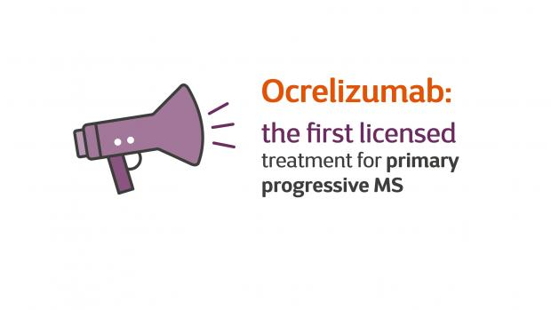 A graphic promoting the MSS ocrelizumab campaign