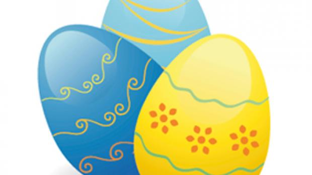 an illustration of two Easter eggs