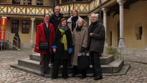 Lorne and Cathy with colleagues in Burgundy