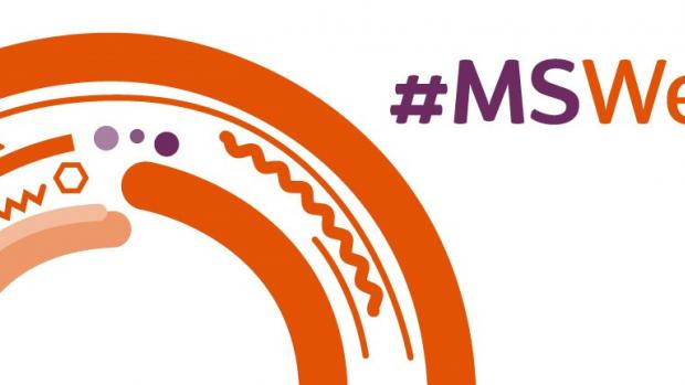 a logo showing MS WEEK