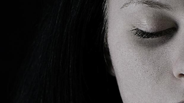 Close up of half of a young woman's face