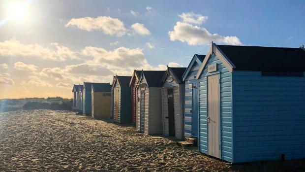 Photo: Chalets on Southwold beach