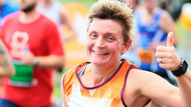 Woman running the Great North Run