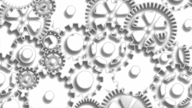 Image shows some cogs