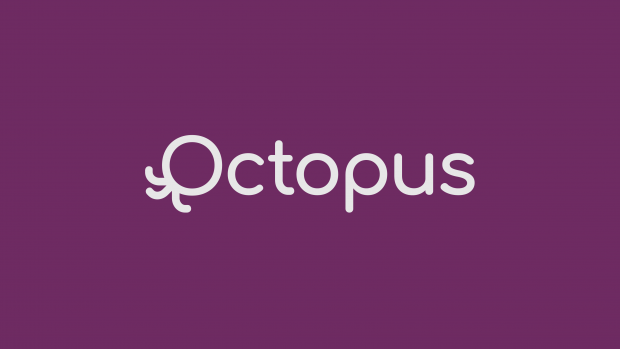 White text reading 'Octopus' on a purple background