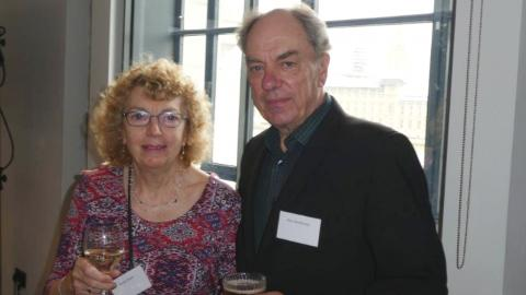 Alun and his sister Elaine at an event