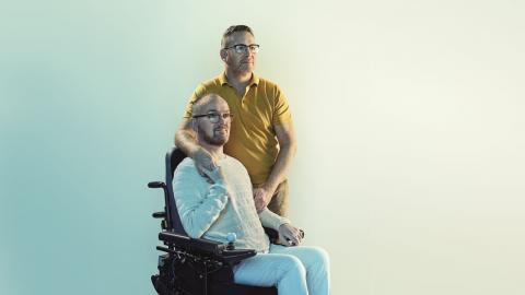 Glyn and Mark, stars of our Stop MS advertising campaign