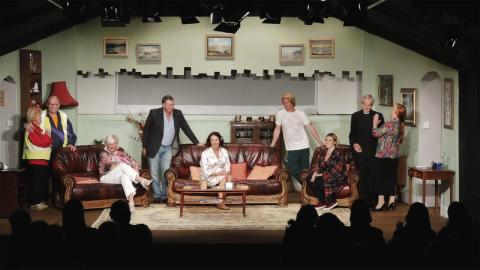 Performance of Raymond's play 'Looking for Love' at the Lane Theatre in Newquay